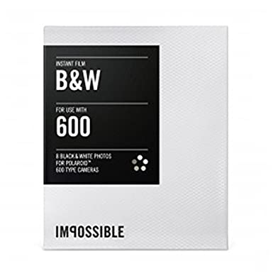 Impossible Men's 600-Type Camera Black & White Instant Film