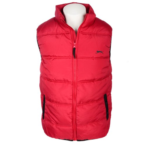 Slazenger Men's Red Exclusive Padded Gilet in Size XLarge
