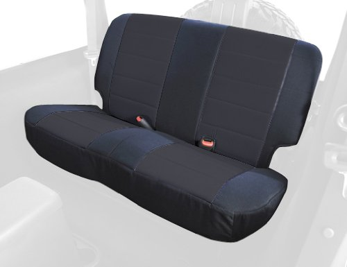 Rugged Ridge 13280.01 Black Custom Fit Poly Cotton Rear Seat Cover front-416193