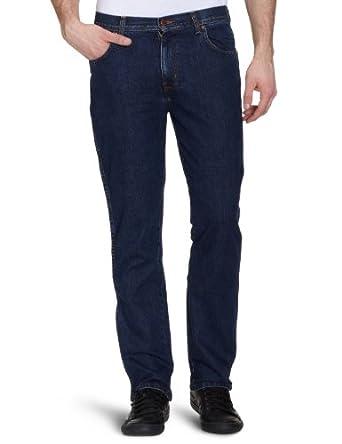 Wrangler Herren Jeans Hoher Bund W121K5009, Gr. 30/32, Blau (darkstone 009)