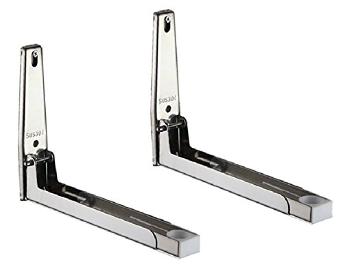 Smart&Cool ® Sturdy Foldable Stainless Shelf Rack for Microwave Oven Wall Mount Bracket (L) (Wall Mount L Bracket compare prices)