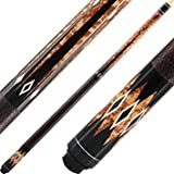 Lucky Cues By McDermott, Brown Burl, Black And White Points, 19oz
