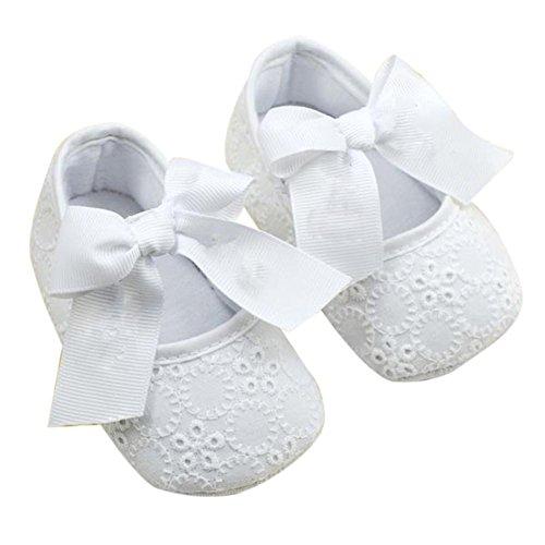 Wxbuy Infant Girls Cotton Ribbon Bowknot Soft Bottom Flower Prewalker 13 front-12433