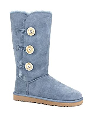 UGG Australia Womens Bailey Button Triplet Boot Dolphin Blue Size 5