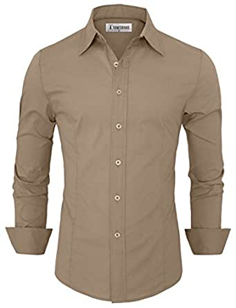 Tom's Ware Chemise Habillee -Homme TWFD001-1 -BEIGE-S