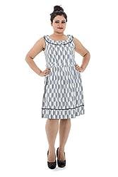 Lastinch Women Cotton A-Line Dress (Liwc215_Medium _Purple _Medium)