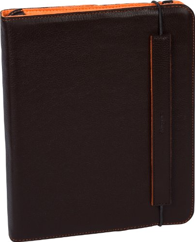 Targus Truss Leather Carrying Case with Stand for Apple iPad 16GB, 32GB, 64GB WiFi and WiFi + 3G  THZ02203US (Brown/Orange Interior)