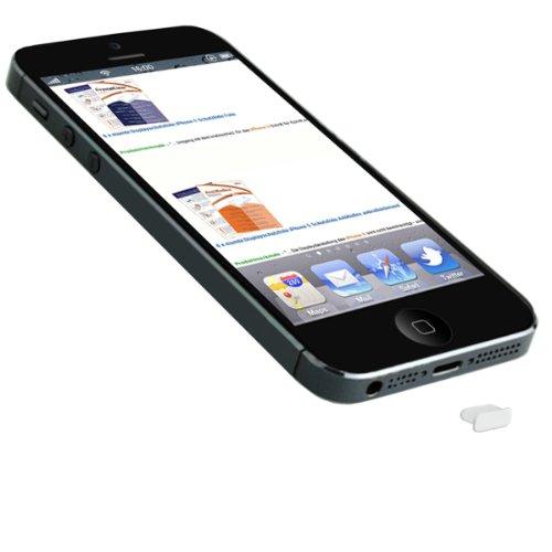 mumbi USB Wasserschutz Stöpsel Staubschutz für iPhone 5 – Lightning Schutzkappe iPhone 5 in weiß