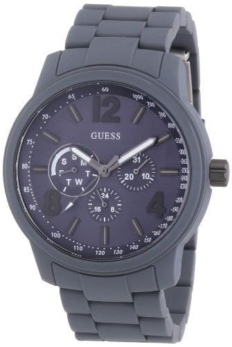 Guess Herren-Armbanduhr XL Mens Trend Multifunktion Analog Quarz Edelstahl beschichtet W0185G2