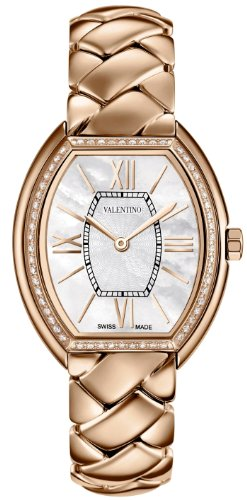 Valentino Liaison Rose Gold Plated Steel & Diamond Womens Dress Watch V48SBQ5191-S080