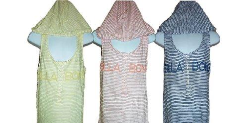Billabong-Giubbotto senza maniche con cappuccio, a strisce, colori pastello, con maglietta, motivo: anni, 40-44 Limone 10 anni