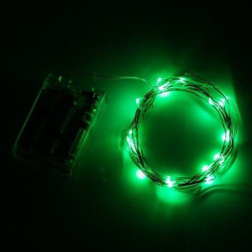 Sinollc Green 2M Original Copper Wire Led Starry Lights Strings Fairy Lamp Bedroom Mood String Lights