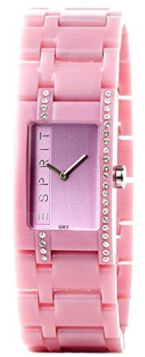 Esprit ES103562009 - Reloj analógico de cuarzo para mujer con correa de plástico, color rosa
