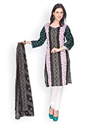 EQ Women Pure Cotton Black Color Salwar Suit. - B00X7CWMRM