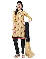Saree Swarg Beige and Black Dress Material