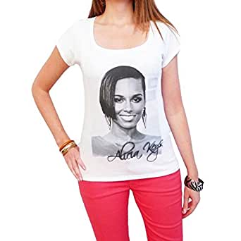 Alicia Keys : T-shirt Femme imprimŽ photo de star Star, t shirt femme,cadeau