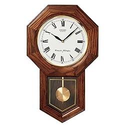 Seiko Oak Schoolhouse Wall Clock