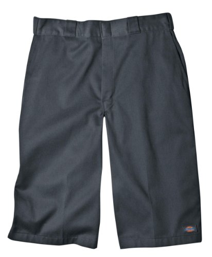 Dickies Men's 15 Inch Inseam Work Short With Multi Use Pocket, Charcoal, 38