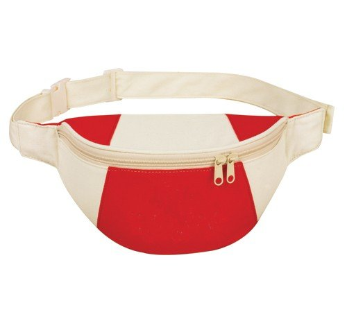 Yens® Yens® Fantasybag Eco-Green Fanny Pack-Red/Natural, FP-8511