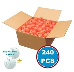 Wiffle Practice Golf Balls - 240 Pieces Wholesale Lot, Orange by Player Supreme