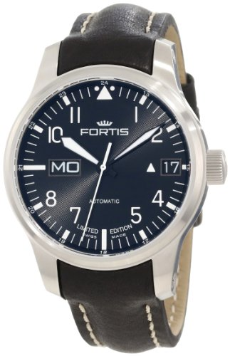 Fortis Men's 700.10.81 L.01 F-43 Flieger Automatic Black Leather Date Watch