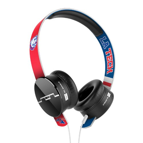 Sol Republic 1211-Ltu Collegiate Series Tracks On-Ear Headphones With Three Button Remote And Microphone - Louisiana Tech University
