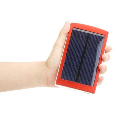 Pannello Solare Per Iphone : Douself batteria mah universale con pannello solare