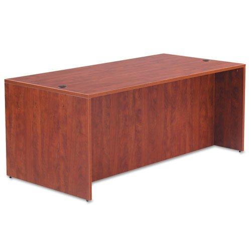 Alera Valencia Series Desk Shell, Medium Cherry, 72w x 36d x 29 1/2h (ALEVA217236MC) Category: Wood Desks