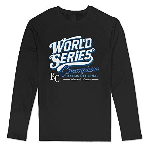 TonyGray Men's Long Sleeve World Series Champs KC Design T-shirt Black (Missouri Free Quilt T compare prices)