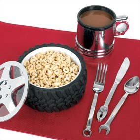 ComputerGear Engine-er Tire Bowl Piston Mug Tool Utensil Place Setting