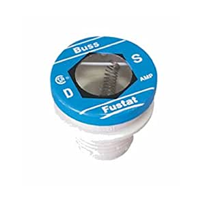 Bussmann S-3-2/10BC 3-2/10 Amp Type S Time-Delay Dual-Element Plug Fuse Rejection Base, 125V UL Listed 1-In Bag