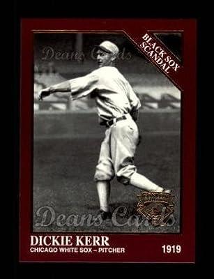 1994 Conlon Burgundy # 1037 Black Sox Scandal Dickie Kerr Chicago White Sox (Baseball Card) Dean's Cards 8 - NM/MT