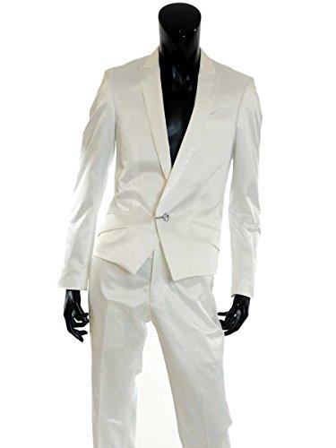 スーツ メンズ セットアップ ピークドラペル V270203-01 ホワイト Y4