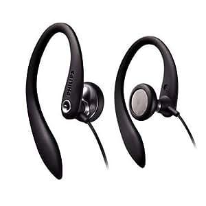 Philips SHS3200/10 Sport In-Ear-Kopfhörer (15 mm Lautsprechertreiber, Flexible 3D-Ohrbügel, 1,2 m Kabellänge) schwarz