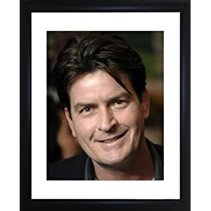 Charlie Sheen Framed Photo
