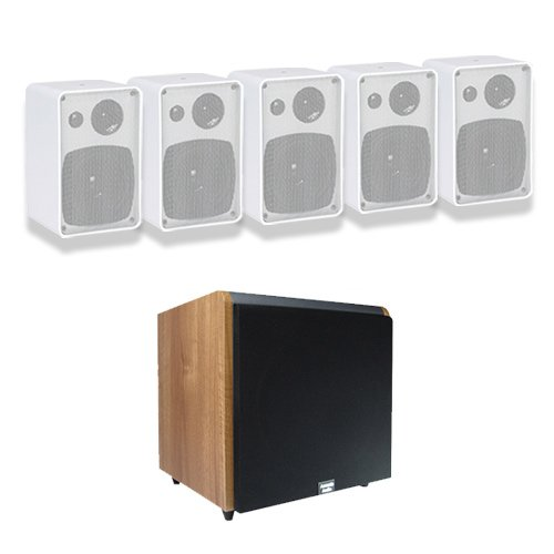 Acoustic Audio AW43W 5.1 Home Surround Speaker System w/Maple 10