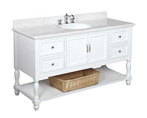 Kitchen Bath Collection KBC227WTWT Beverly Single Sink Bathroom Vanity ...