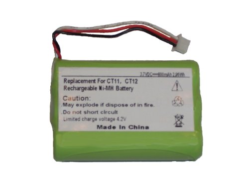 Mpf Products Replacement 800Mah 63421-01 Extended Battery For Plantronics Ct11 & Ct12 Cordless Headset Phones