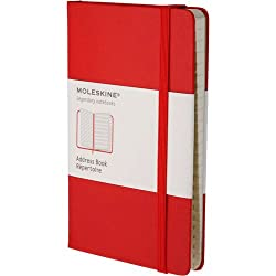 Moleskine Classic Desk Address Book, Large, Red, Hard Cover (5 x 8.25) (Classic Notebooks)