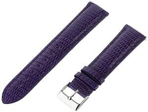 Swiss Watch International 20 MM Purple Genuine Lizard Strap 20LIZ41M