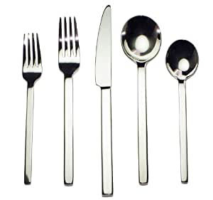 Splendide 917284 Vista 45 Piece Flatware Set Kitchen Home