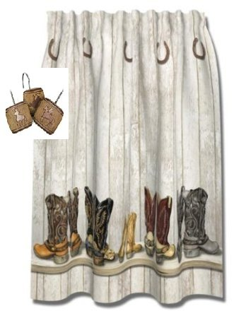 Saddle Up Shower Curtain Set