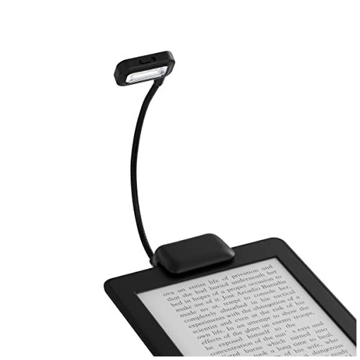 LANMU-Black-Dual-LED-Clip-On-Reading-Light-Lamp-for-Amazon-Kindle-PaperWhiteVoyagekindle-6inchNookeBook-ReadersTabletsPDAsCell-PhonesBookTextbookBlack