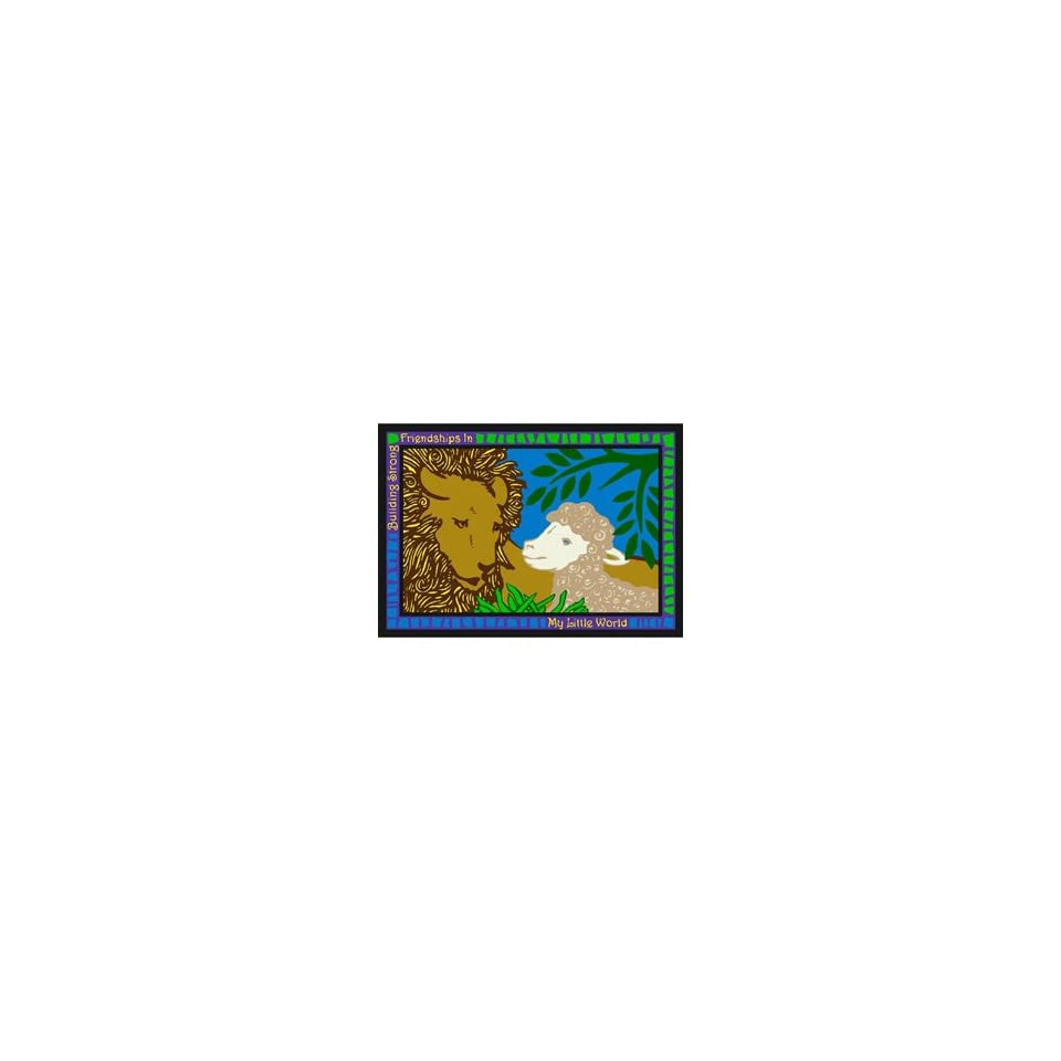 Joy Carpets My Little World 3 10 x 5 4 blue Area Rug