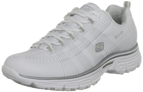 Tone-Ups Fitness Women's Ready Set - Jet White/Silver Training Shoes 11755 2 UK