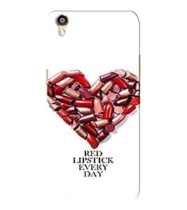 EPICCASE Lipstick Heart Mobile Back Case Cover For Oppo F1 Plus (Designer Case)