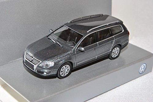 VW-Volkswagen-Passat-Variant-B6-Typ-3C-Grau-2005-2010-H0-187-Wiking-Modell-Auto