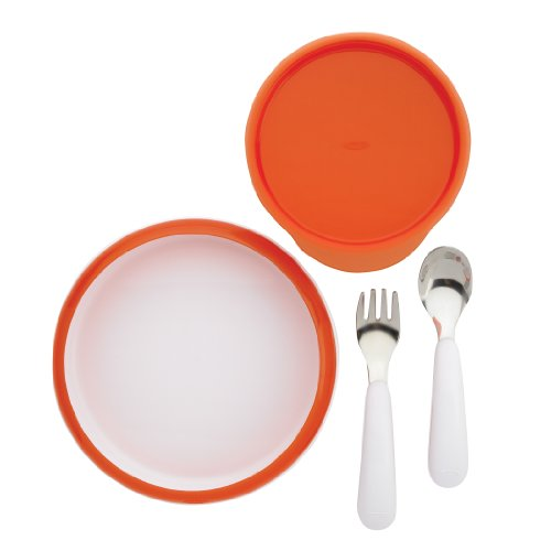 OXO Tot 4 Piece Feeding Set, Orange (Discontinued by Manufacturer)