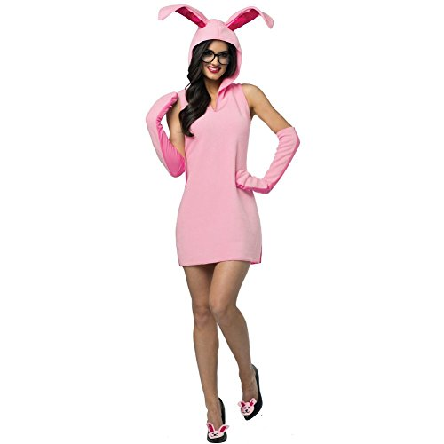 Ralphie Bunny Suit Costume Womens A Christmas Story Movie Adult Pink Easter