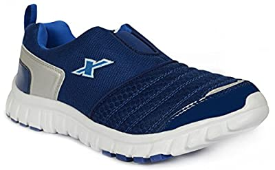 Sparx Men's Navy Blue and White Running Shoes (SM-201)